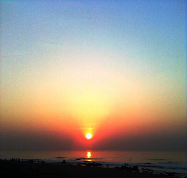 Sunrise at Visakhapatnam Beach