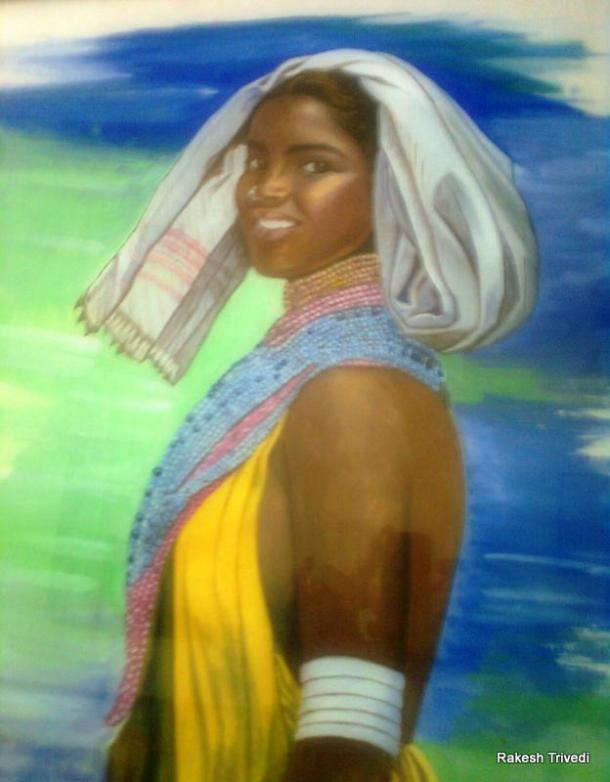 Watercolor painting by Rakesh Trivedi