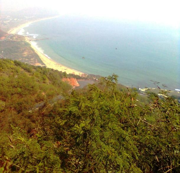 Sea view from Kailasagiri Hills