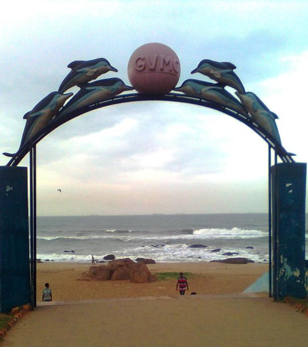 G for Gate- Entrance gate to the sea beach