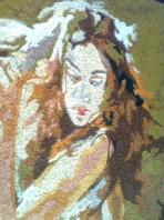 painting on coir board