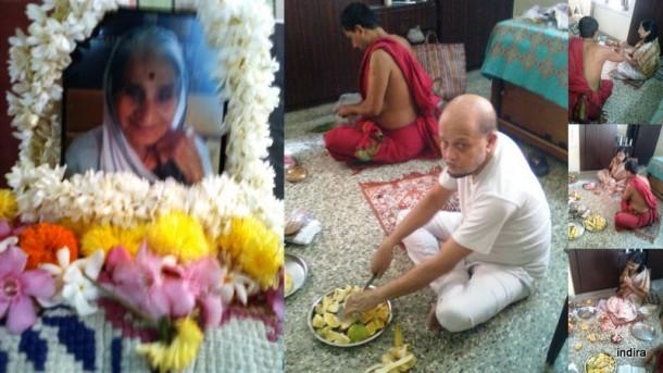 Amma' shraddh ceremony1