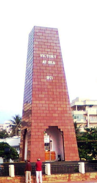 Victory at Sea War Memorial was built in the year 1996 to commemorate the Victory of Indian Navy's Eastern Naval Command(ENC) headquartered at Visakhapatnam in 1971 against Pakistan Navy. ENC successfully sank Pakistani Submarine, Ghazi in 1971, which ventured into the territorial waters in an attempt to attack the Naval base in Vizag during the Indo-Pak war.