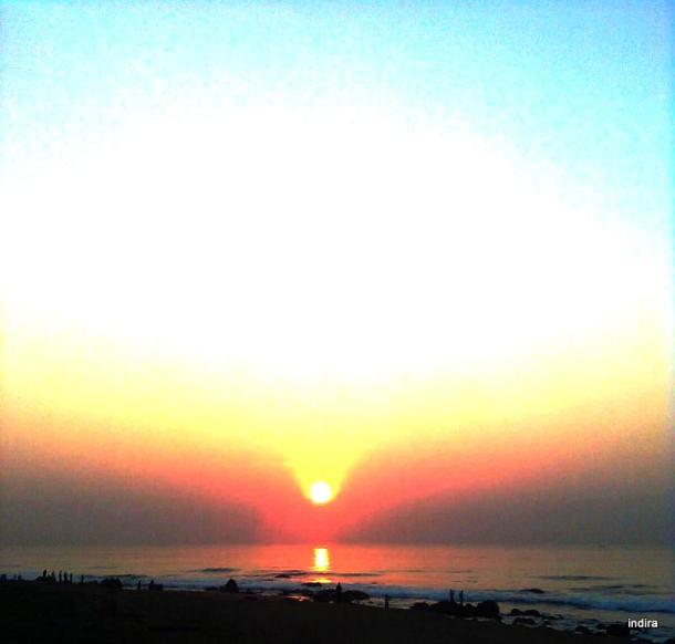 sunrise at sea beach- Visakhapatnam