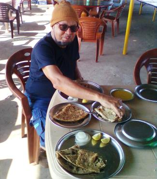 Spicy food at Dhaba
