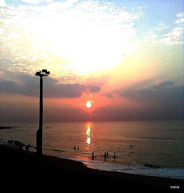 Sunrise at sea beach