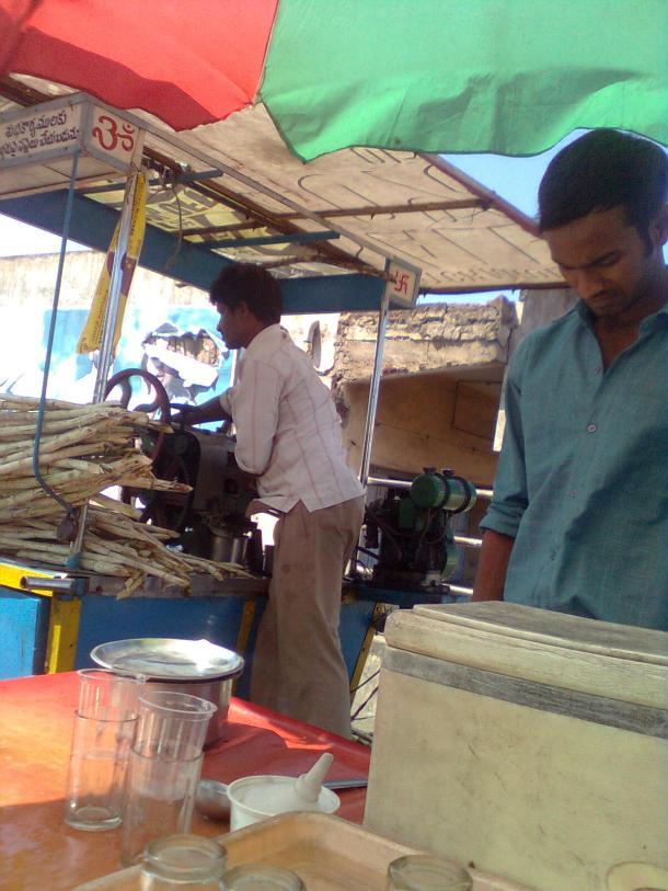 Cane juice seller
