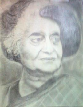 pencil sketch by Indira