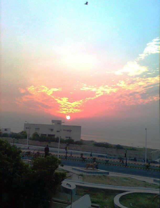 Sunrise from the balcony
