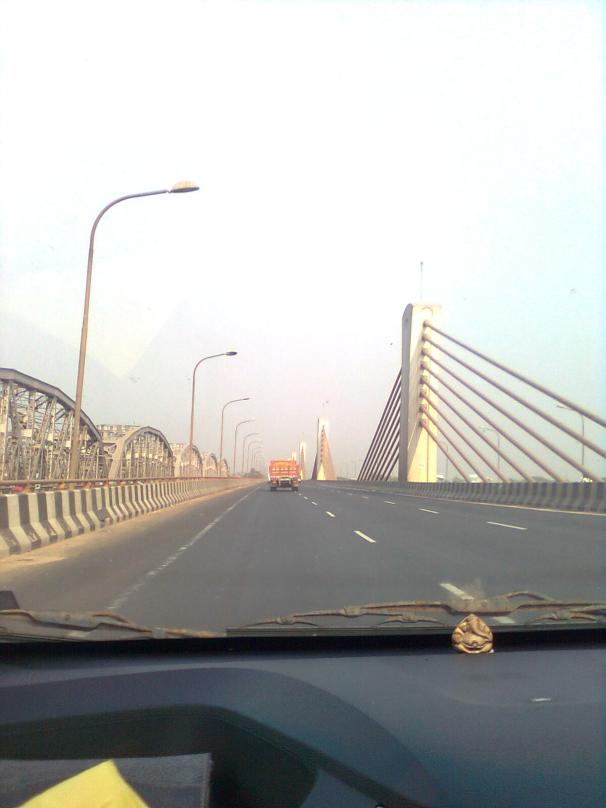 Bali Bridge on River Ganga